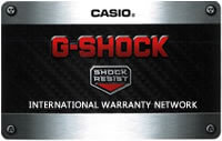 G-Shock Warranty Card