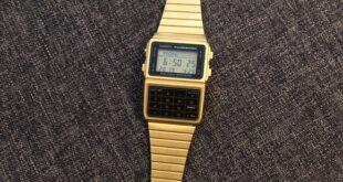 Casio Calculator Gold Watch