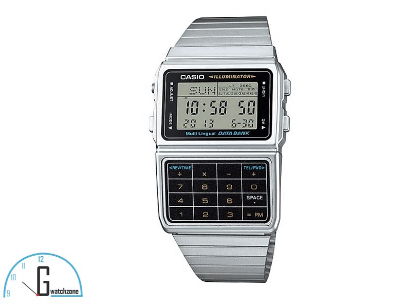 Casio Data Bank Silver Watch
