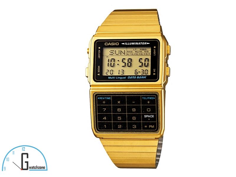 Casio Data Bank Gold Wach