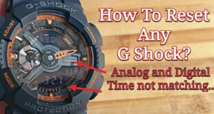How to reset casio g shock?