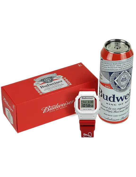 BUDWEISER-G-SHOCK-CAN-CASE-AND-BOX