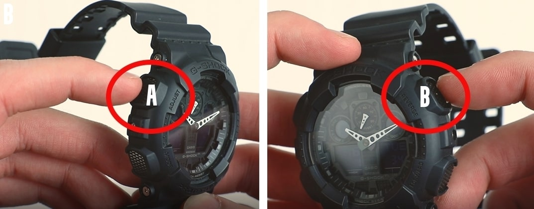 how to change time on gshock
