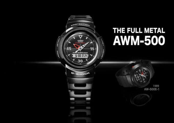 G-Shock AWM-500-1A and AWM-500GC-1A Full Metal Analog-Digital