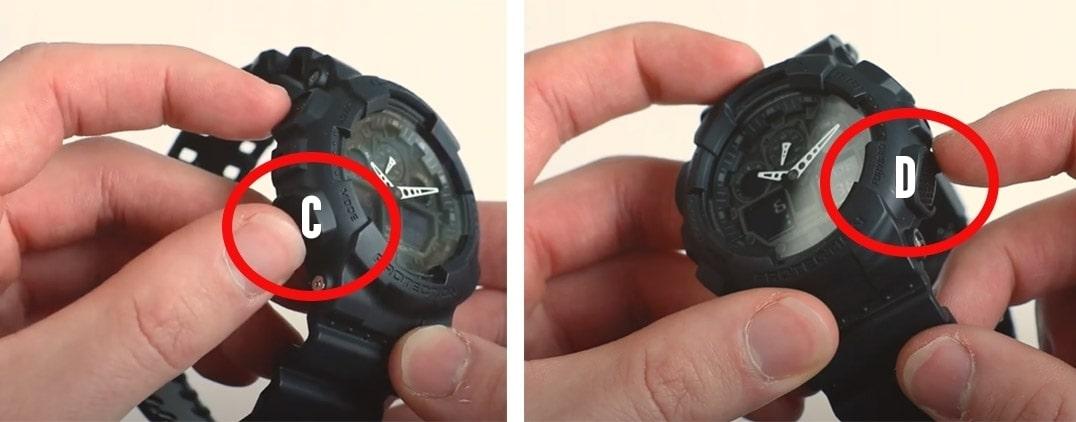 how to adjust gshock time